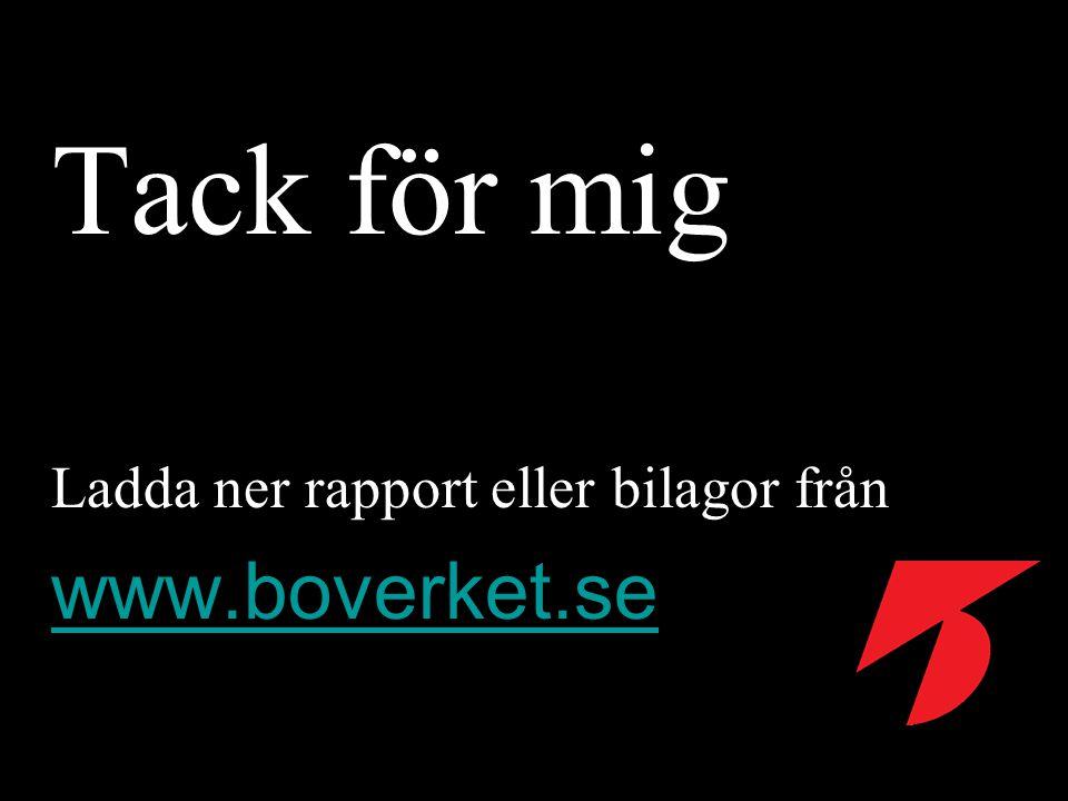 Tack för mig Ladda ner rapport eller bilagor från www.boverket.se