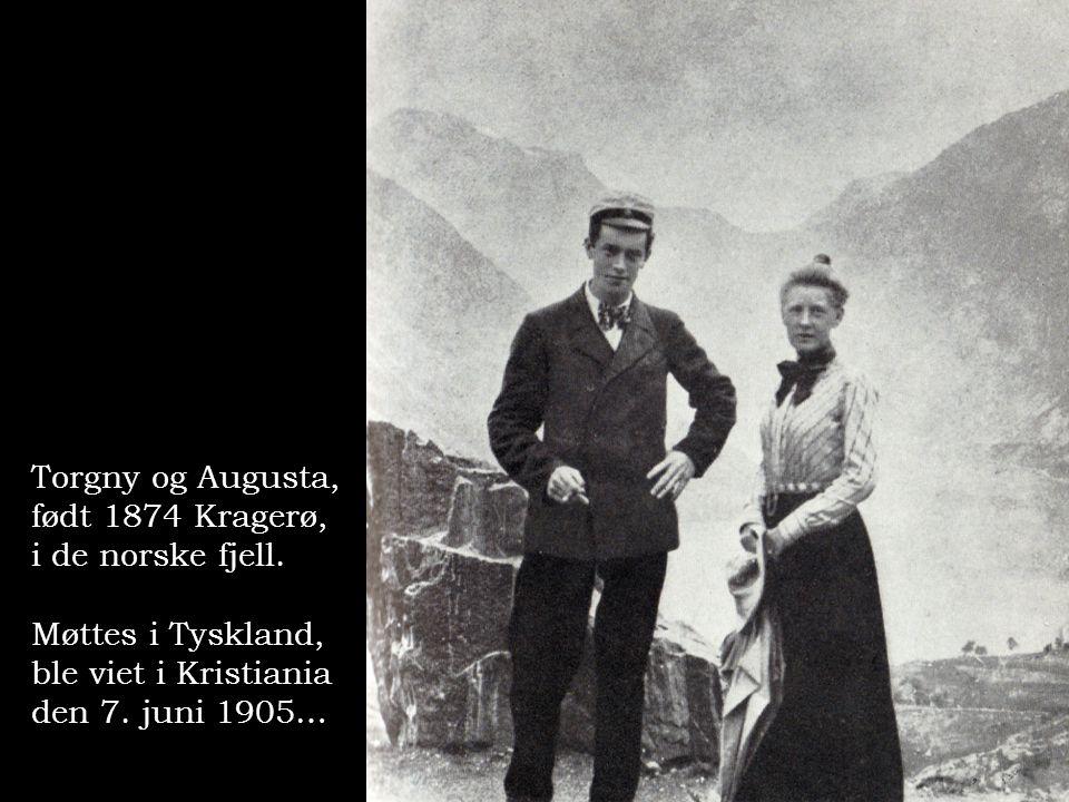 Torgny og Augusta, født 1874 Kragerø, i de norske fjell.
