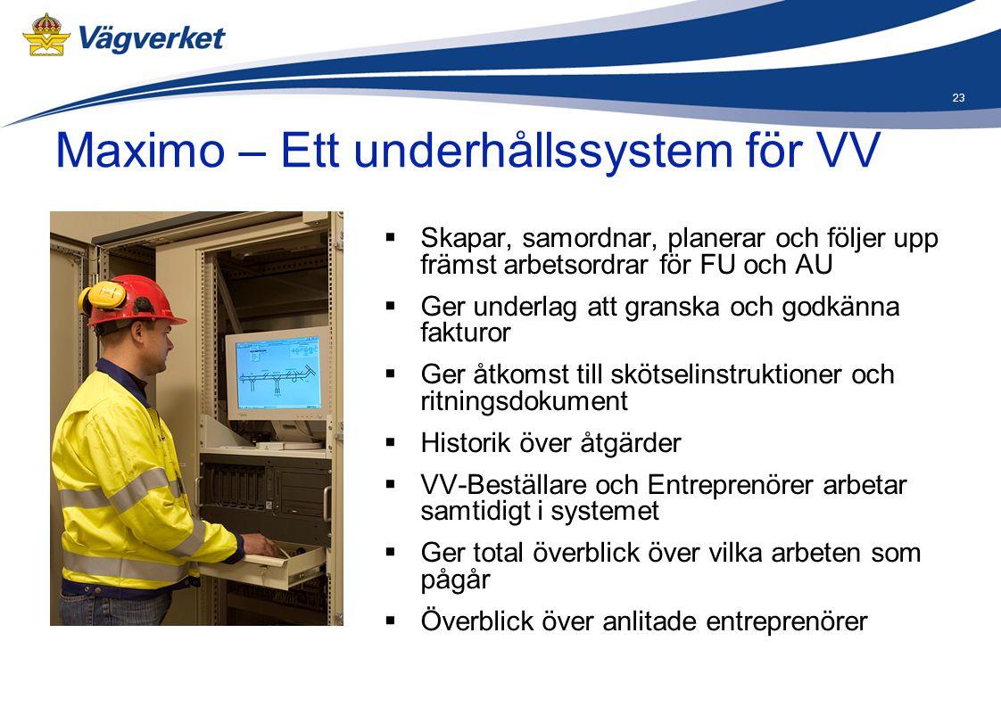 Maximo – Ett underhållssystem för VV