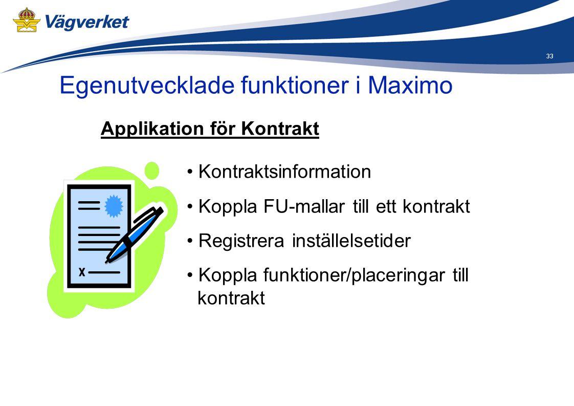 Applikation för Kontrakt
