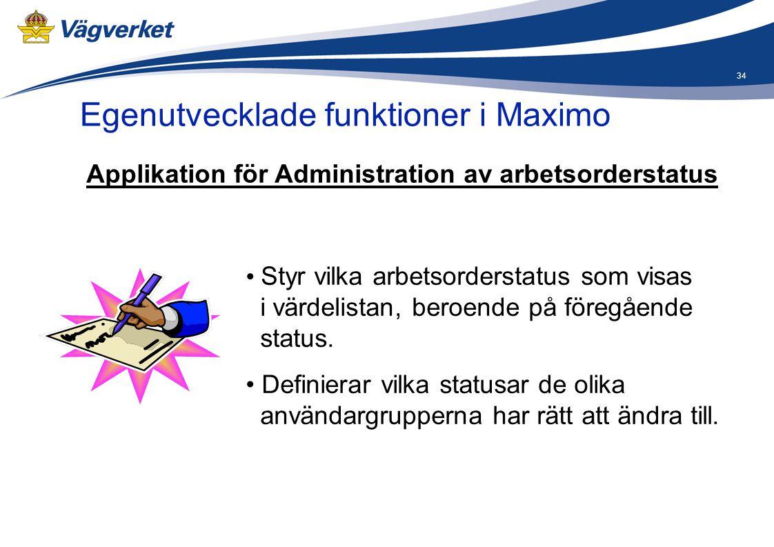 Applikation för Administration av arbetsorderstatus