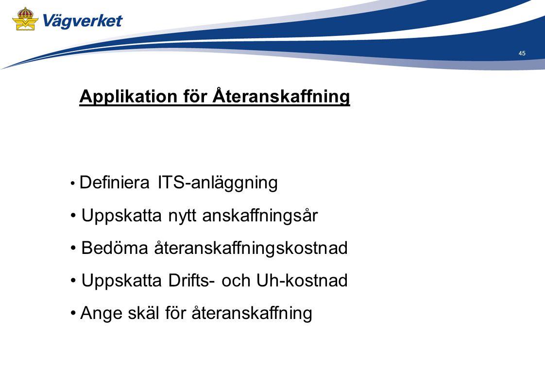 Applikation för Återanskaffning