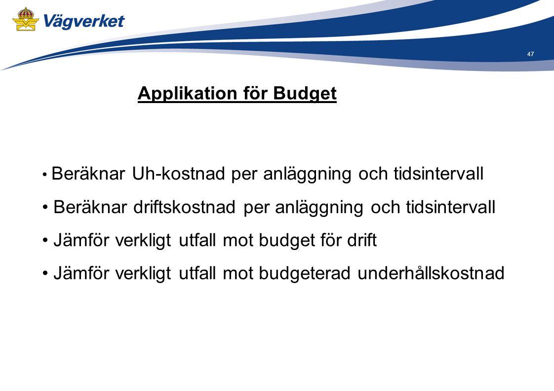 Applikation för Budget