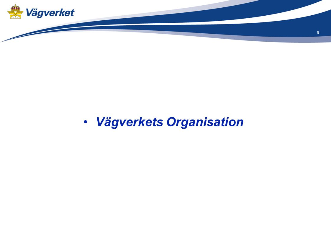 Vägverkets Organisation