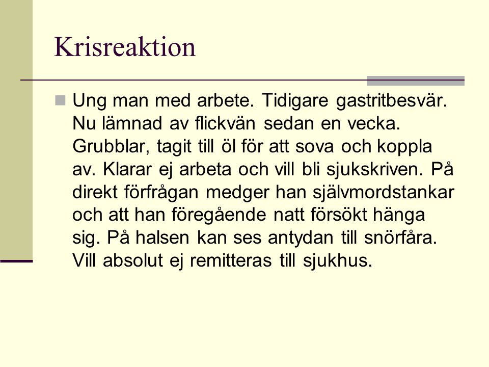 Krisreaktion