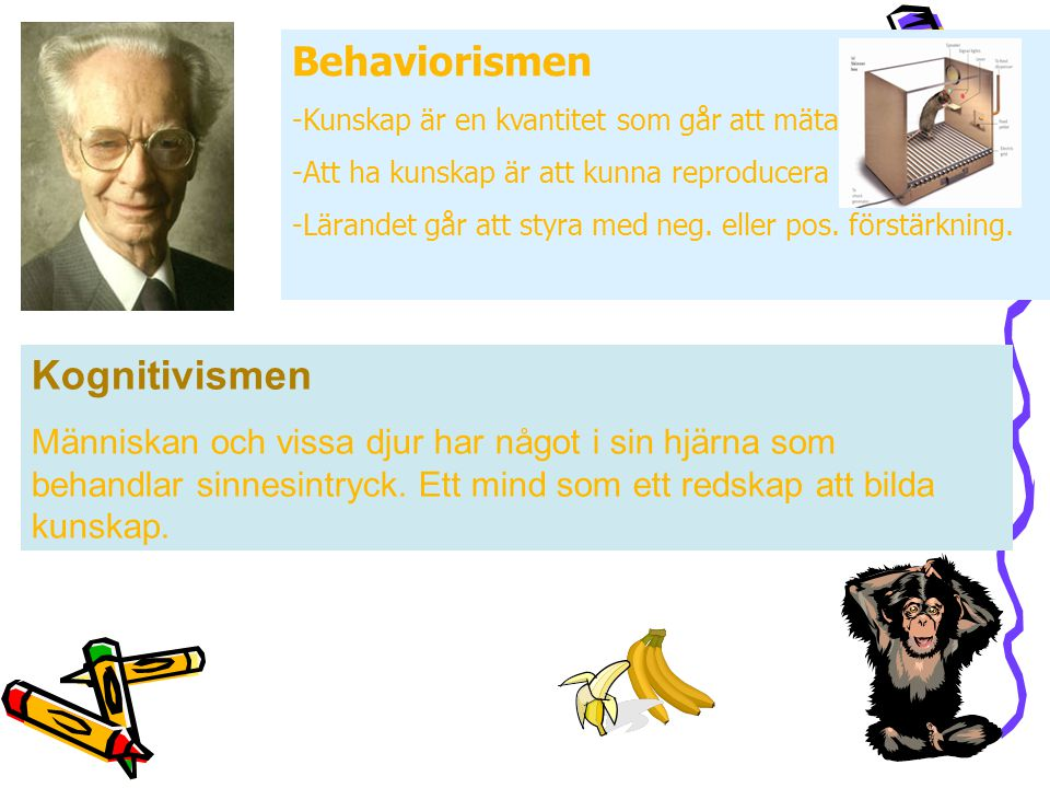Behaviorismen Kognitivismen