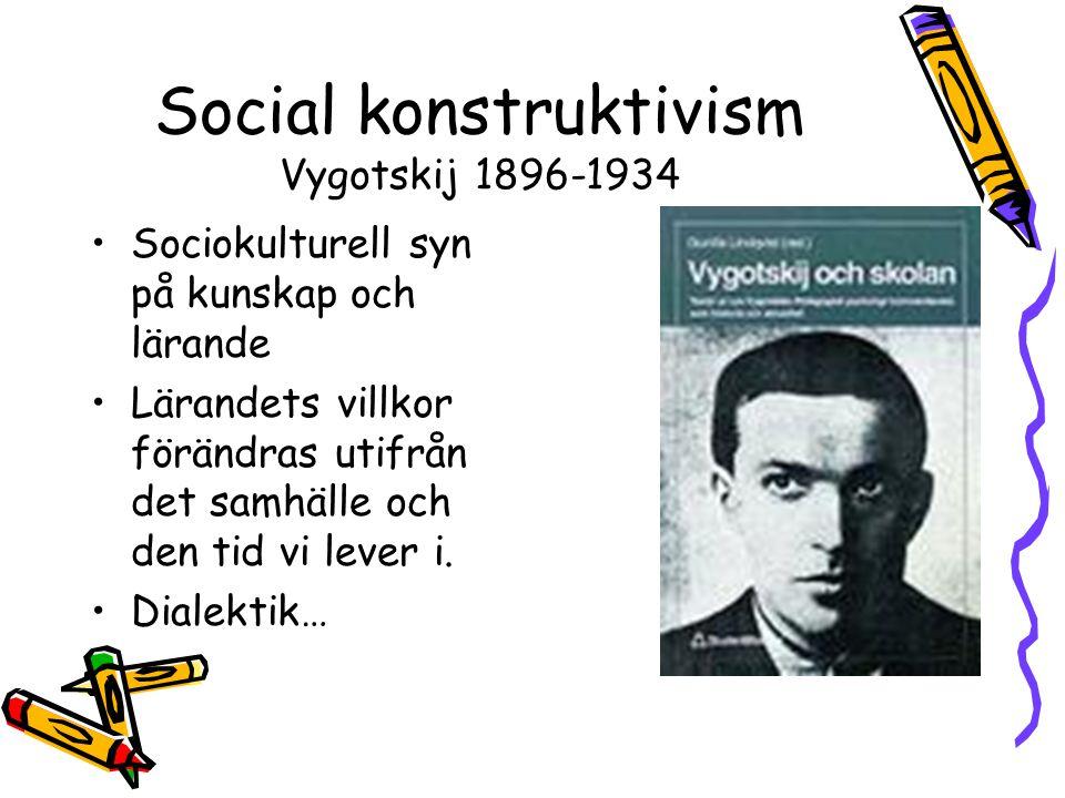 Social konstruktivism Vygotskij 1896-1934