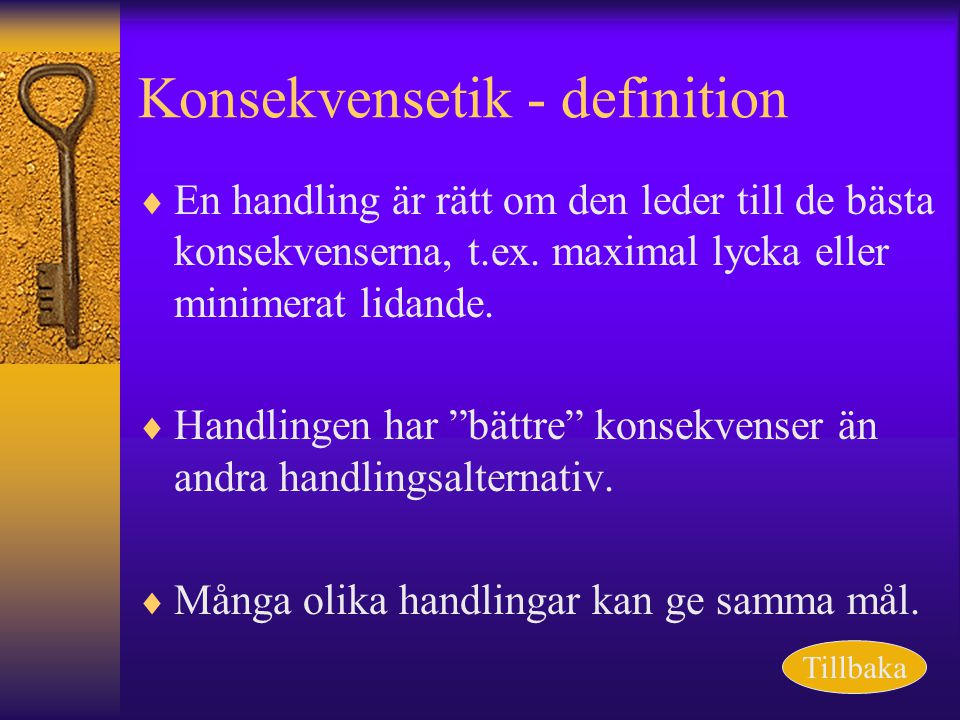 Konsekvensetik - definition