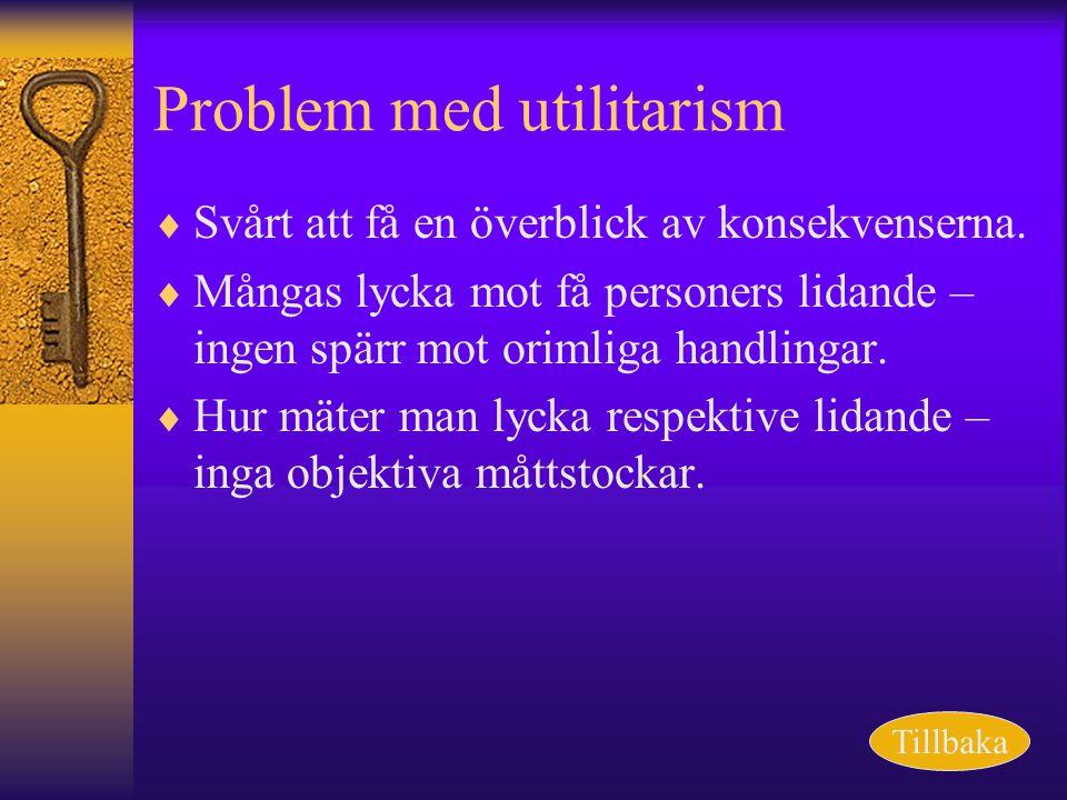 Problem med utilitarism