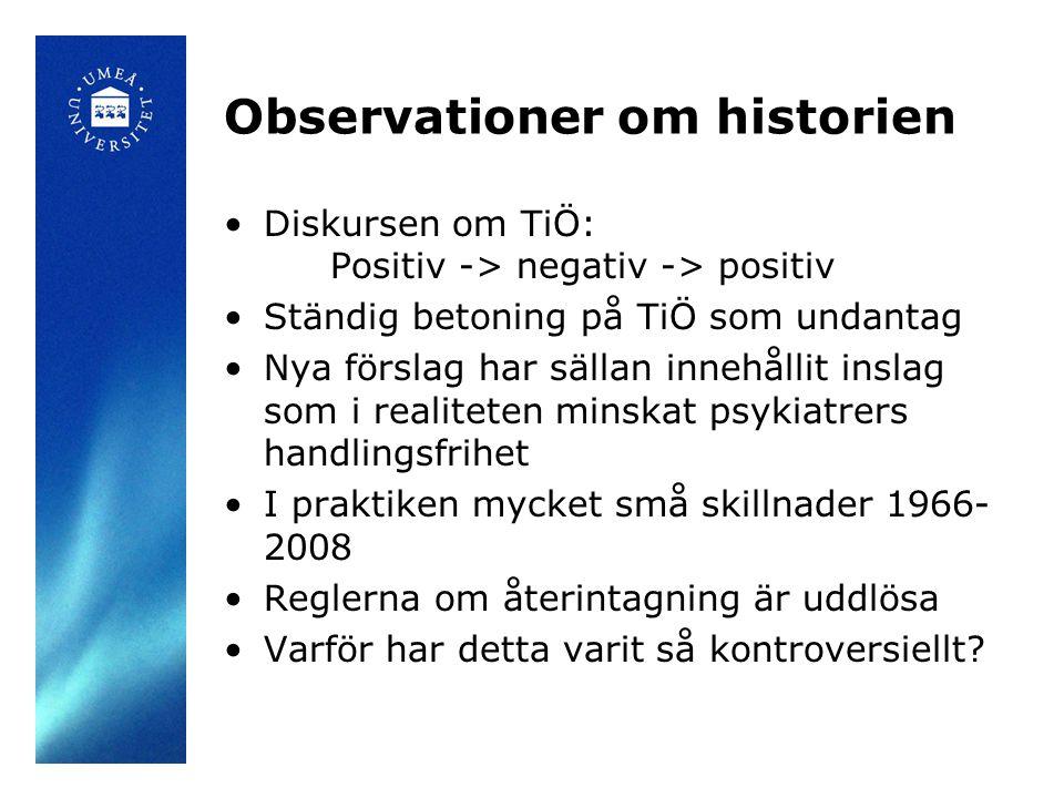 Observationer om historien