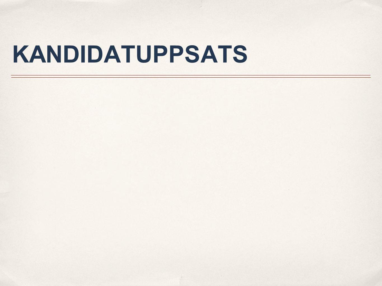 KANDIDATUPPSATS