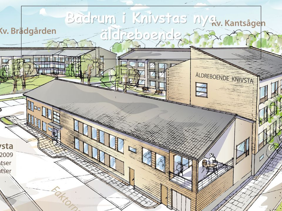 Badrum i Knivstas nya äldreboende