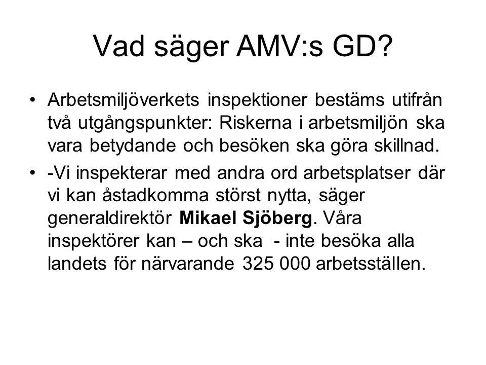Vad säger AMV:s GD