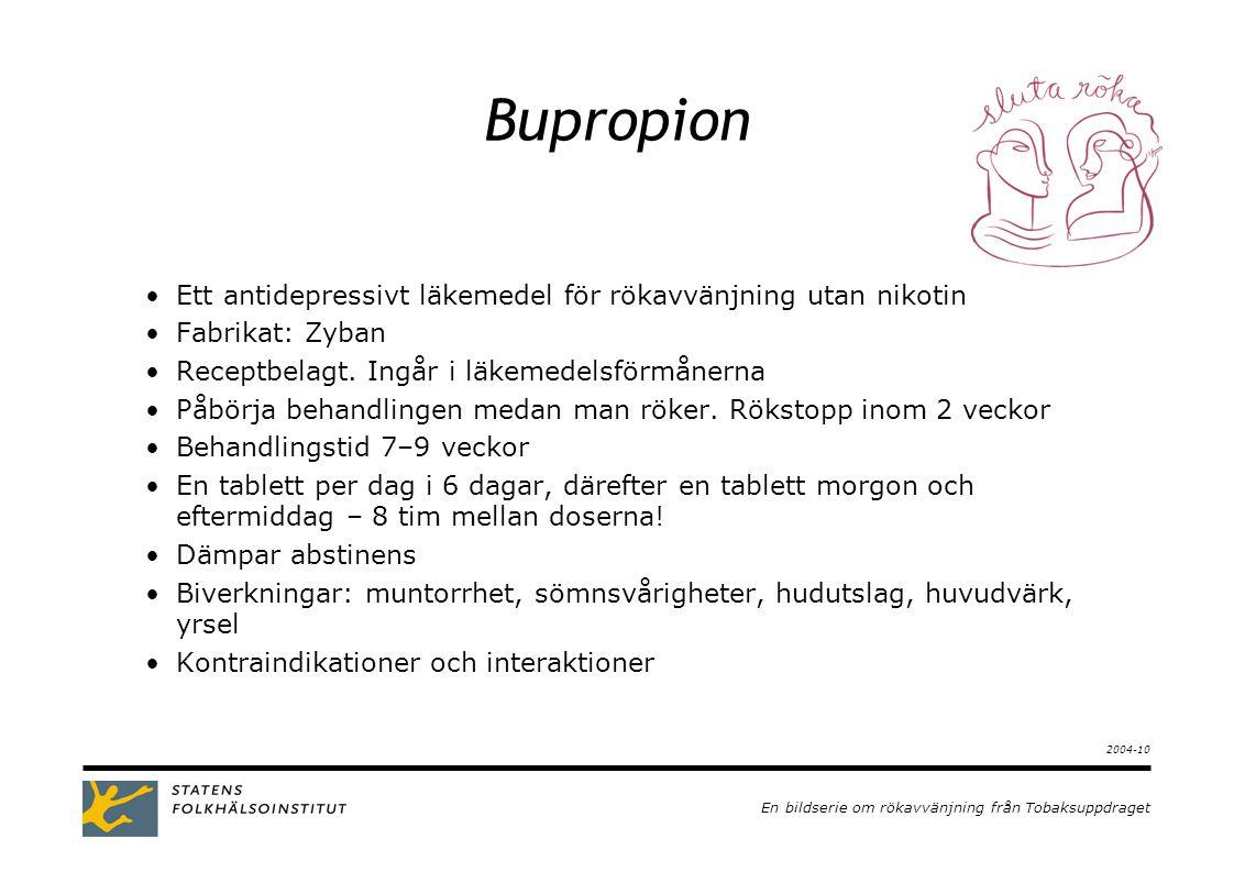 Bupropion Ett antidepressivt läkemedel för rökavvänjning utan nikotin