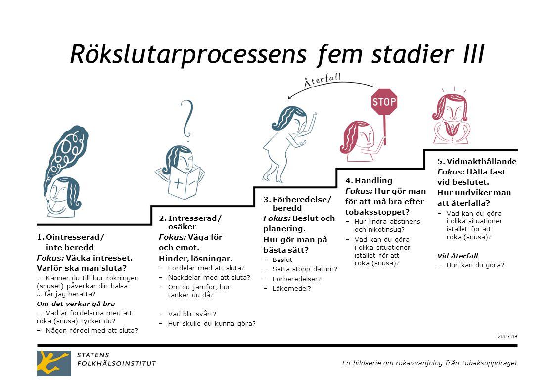 Rökslutarprocessens fem stadier III