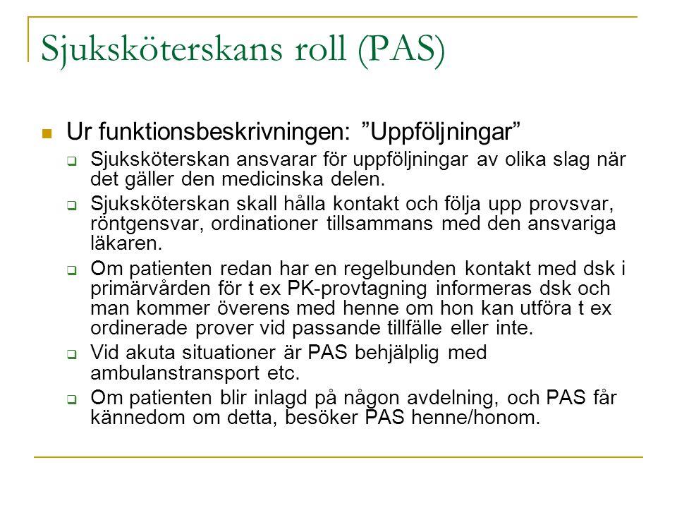 Sjuksköterskans roll (PAS)
