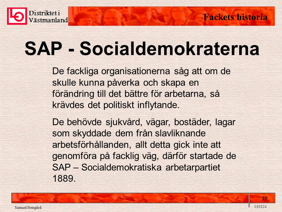 SAP - Socialdemokraterna