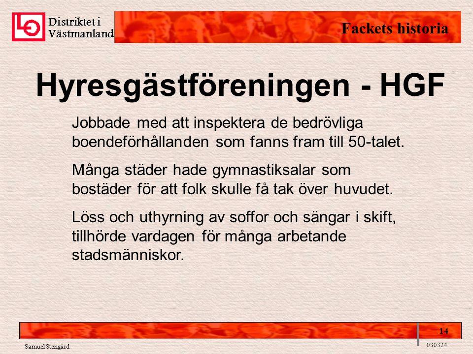Hyresgästföreningen - HGF