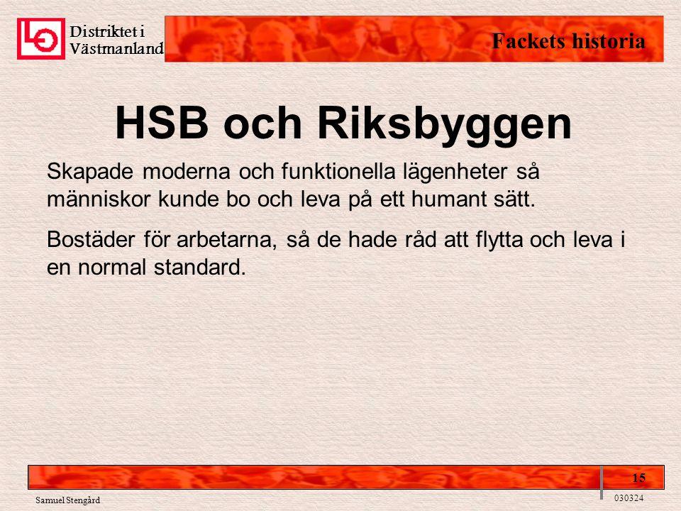 HSB och Riksbyggen Fackets historia