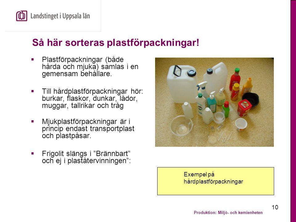 Så här sorteras plastförpackningar!