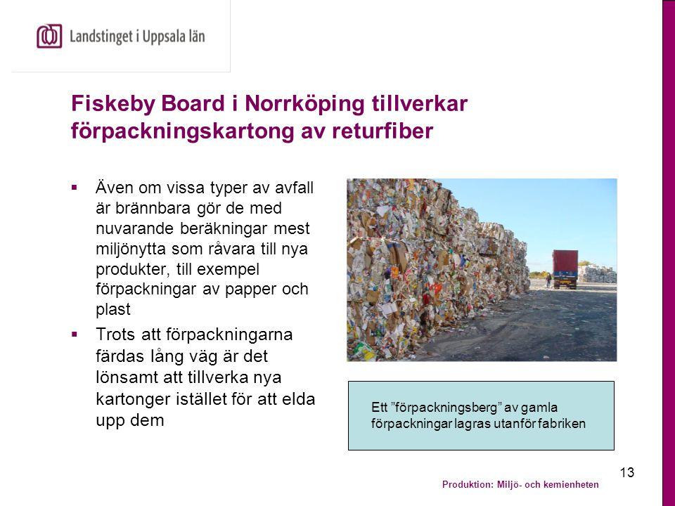 Fiskeby Board i Norrköping tillverkar förpackningskartong av returfiber