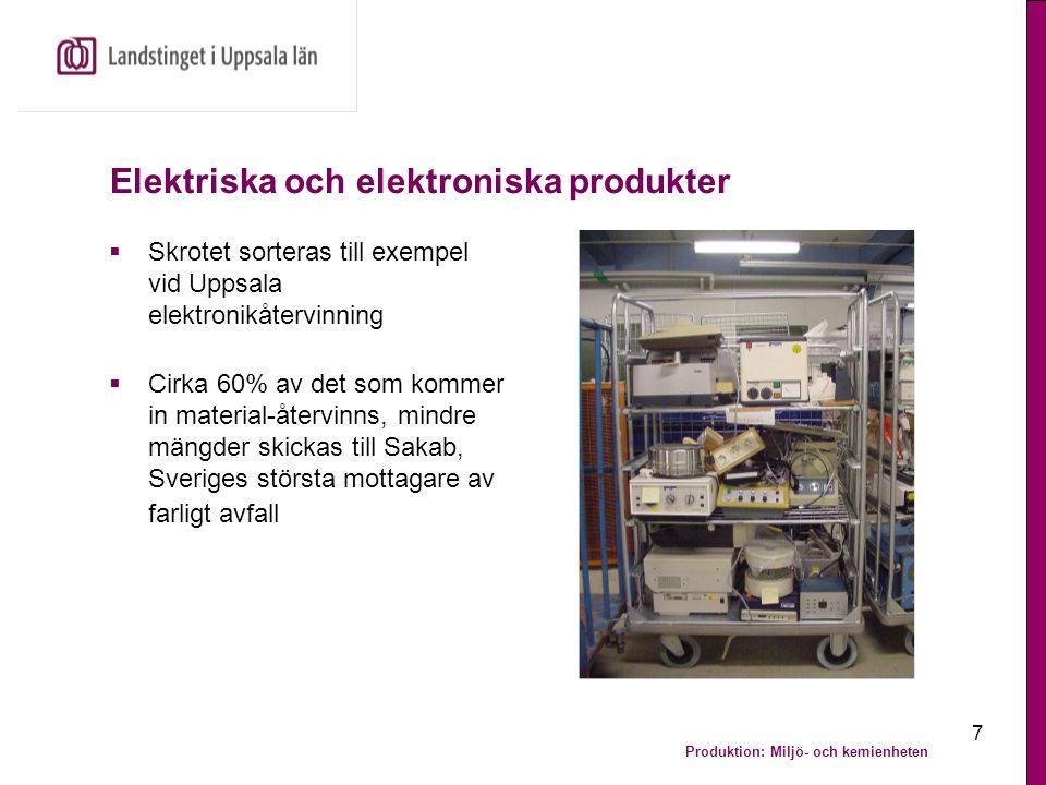 Elektriska och elektroniska produkter