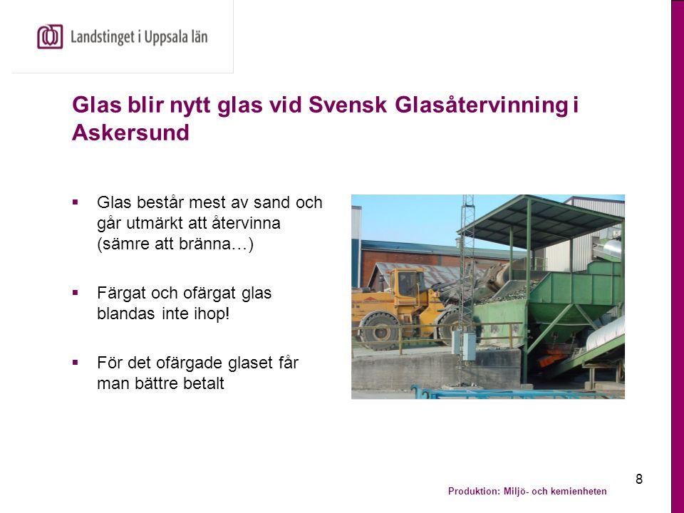 Glas blir nytt glas vid Svensk Glasåtervinning i Askersund