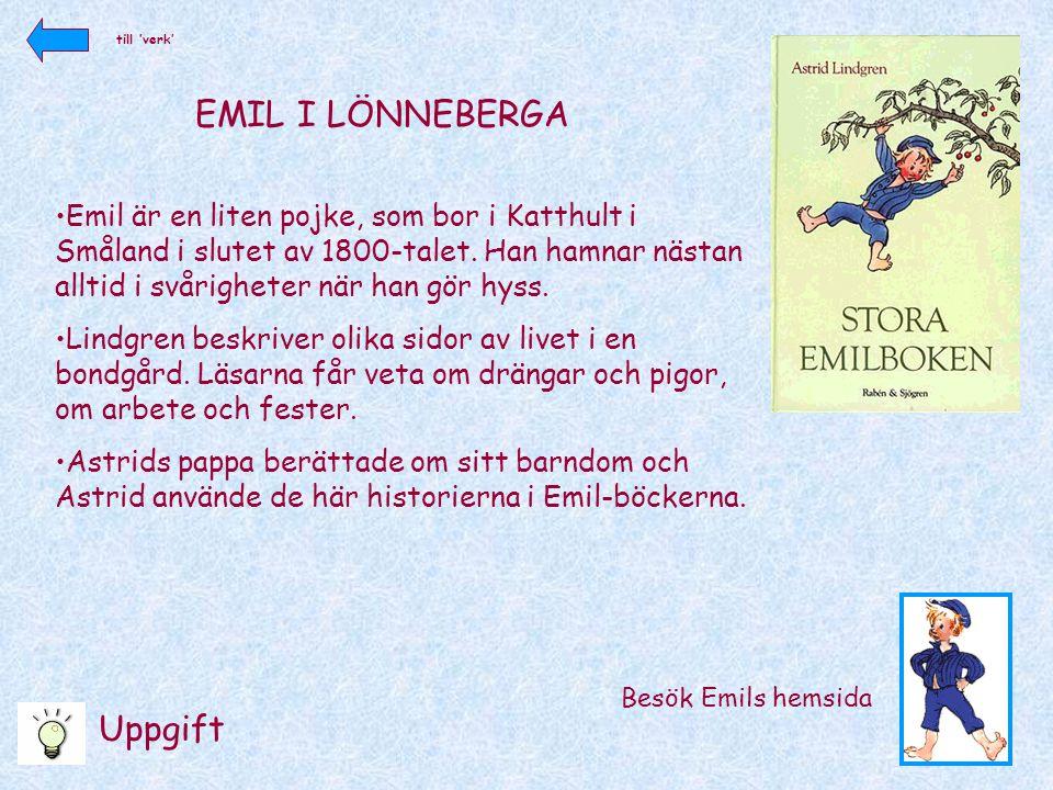 EMIL I LÖNNEBERGA Uppgift