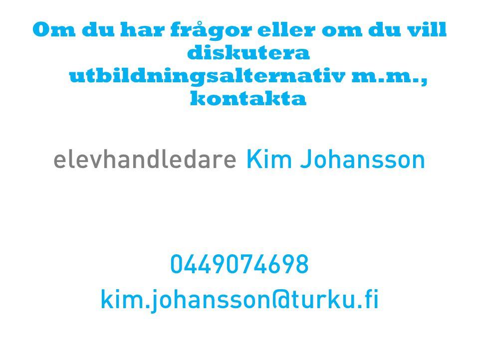 elevhandledare Kim Johansson