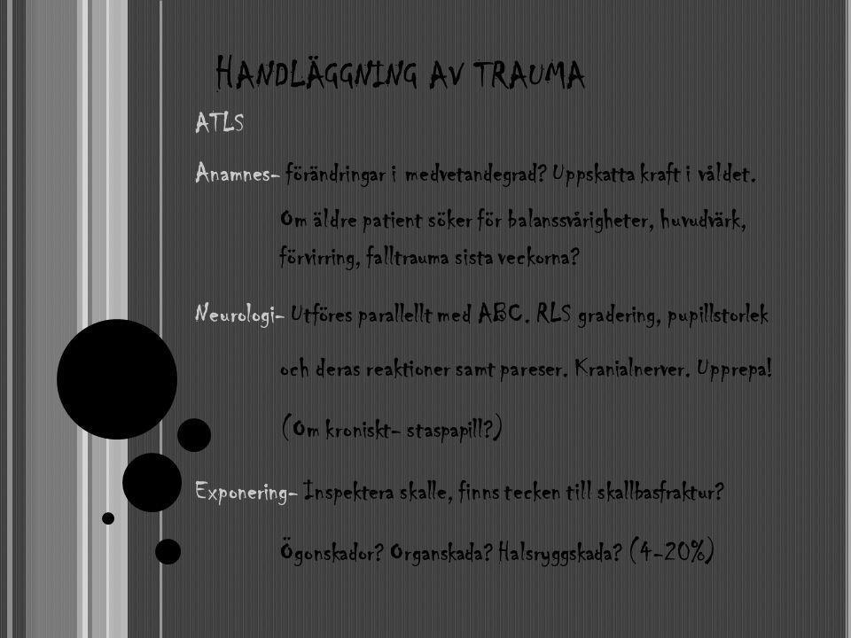 Handläggning av trauma