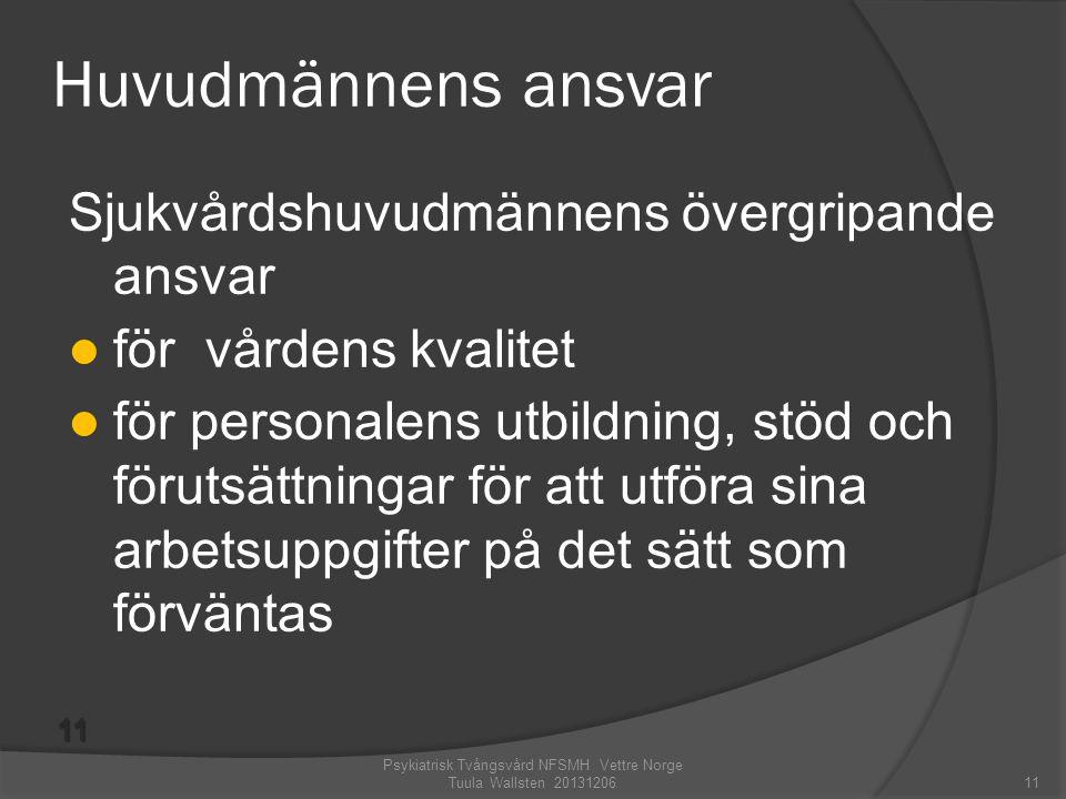 Psykiatrisk Tvångsvård NFSMH Vettre Norge Tuula Wallsten 20131206