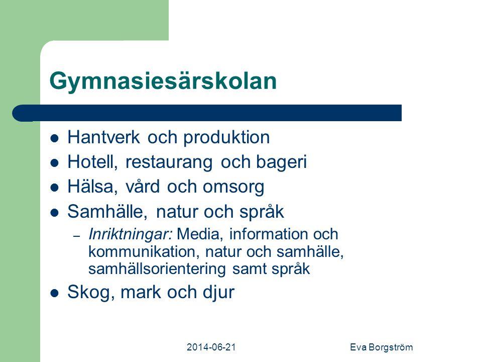 Gymnasiesärskolan Hantverk och produktion