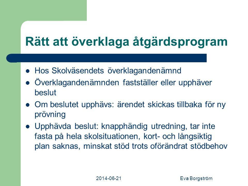 Rätt att överklaga åtgärdsprogram