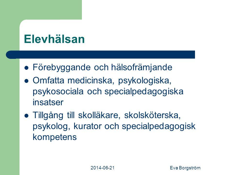 Elevhälsan Förebyggande och hälsofrämjande