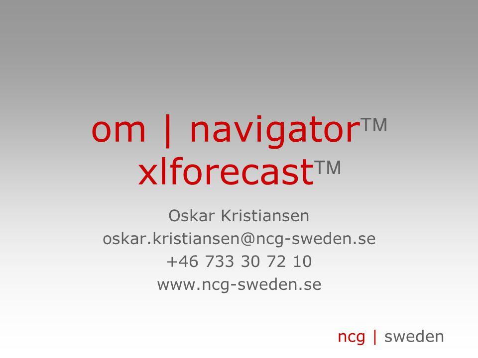 om | navigator xlforecast