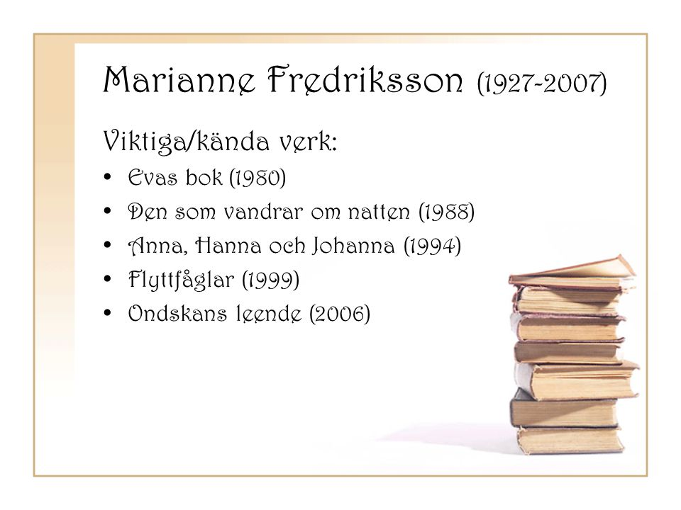 Marianne Fredriksson (1927-2007)