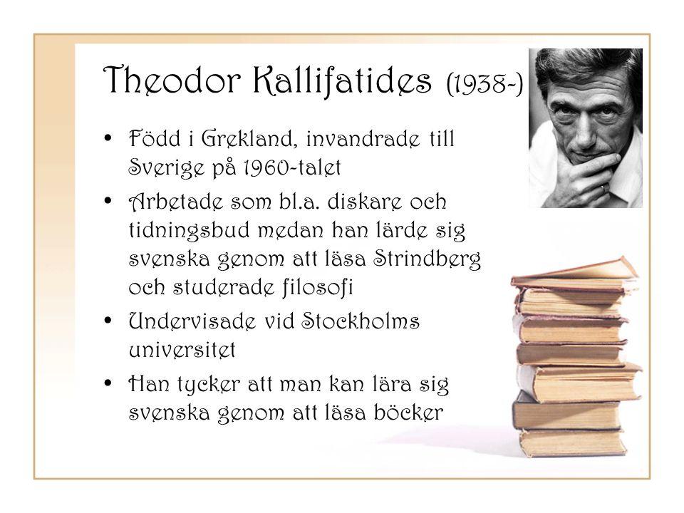 Theodor Kallifatides (1938-)