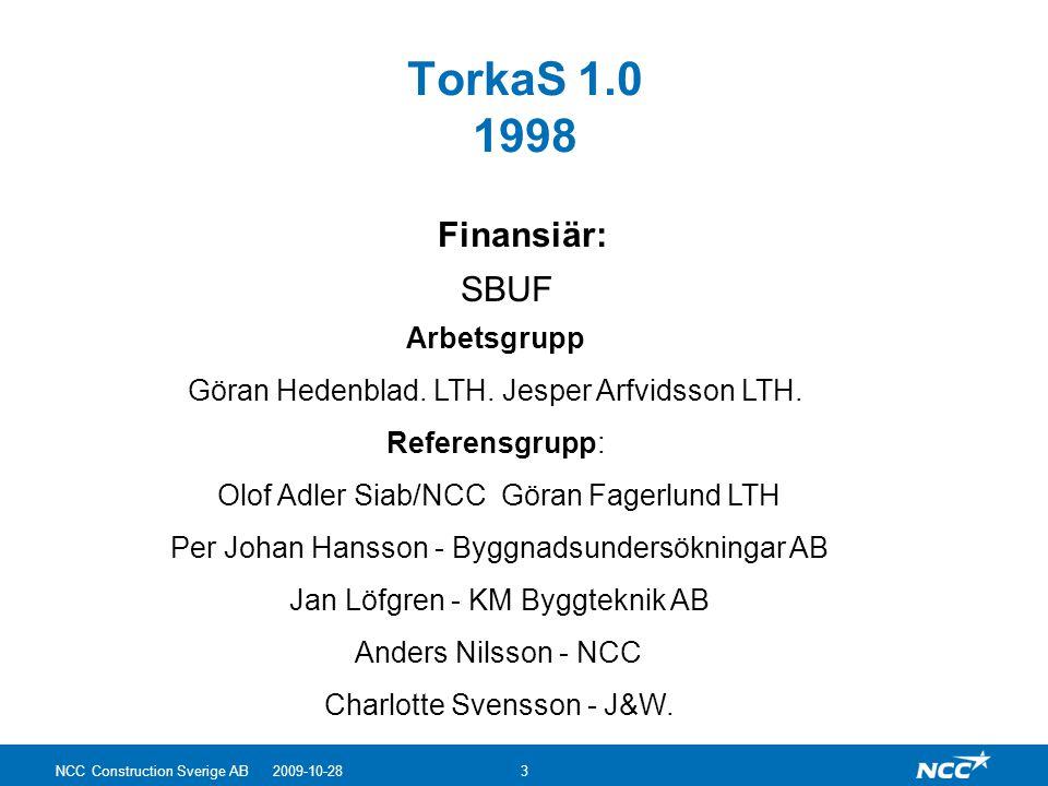 TorkaS 1.0 1998 Finansiär: SBUF Arbetsgrupp
