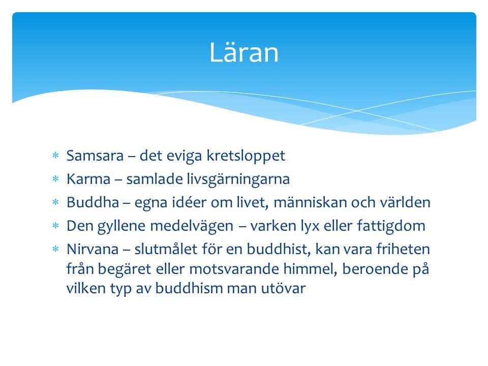 Läran Samsara – det eviga kretsloppet Karma – samlade livsgärningarna