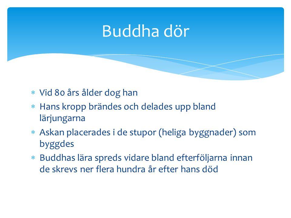 Buddha dör Vid 80 års ålder dog han