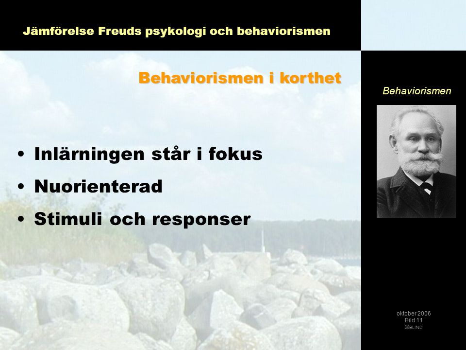 Jämförelse Freuds psykologi och behaviorismen