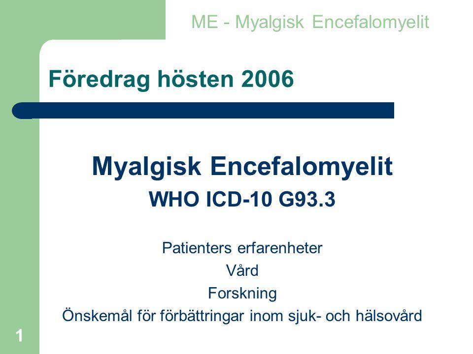 Myalgisk Encefalomyelit