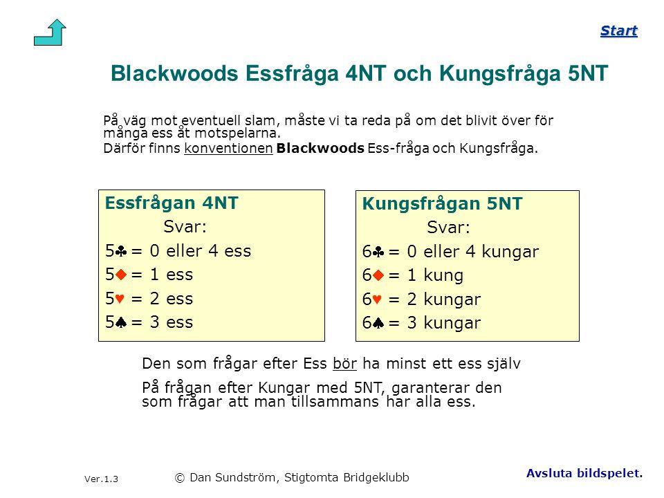 Blackwoods Essfråga 4NT och Kungsfråga 5NT