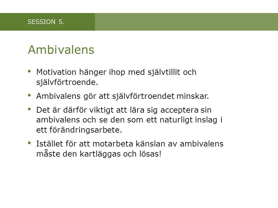 Ambivalens Motivation hänger ihop med självtillit och självförtroende.