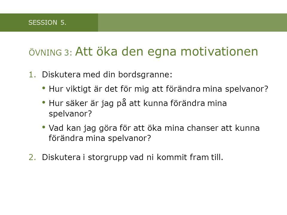 ÖVNING 3: Att öka den egna motivationen