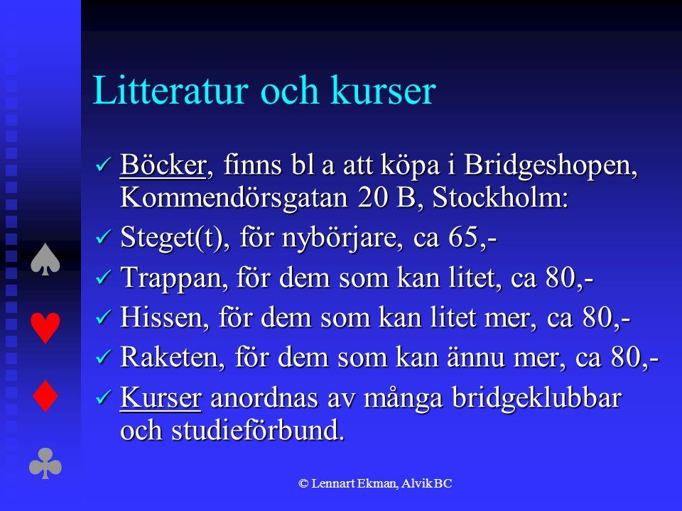 © Lennart Ekman, Alvik BC