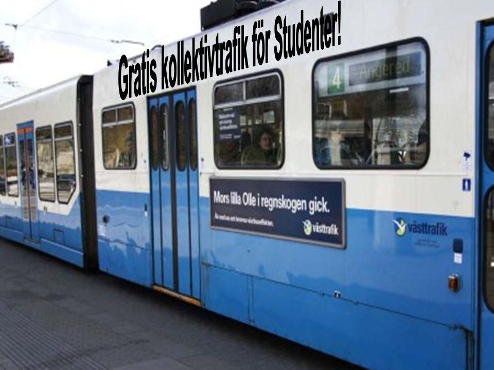 Gratis kollektivtrafik för Studenter!