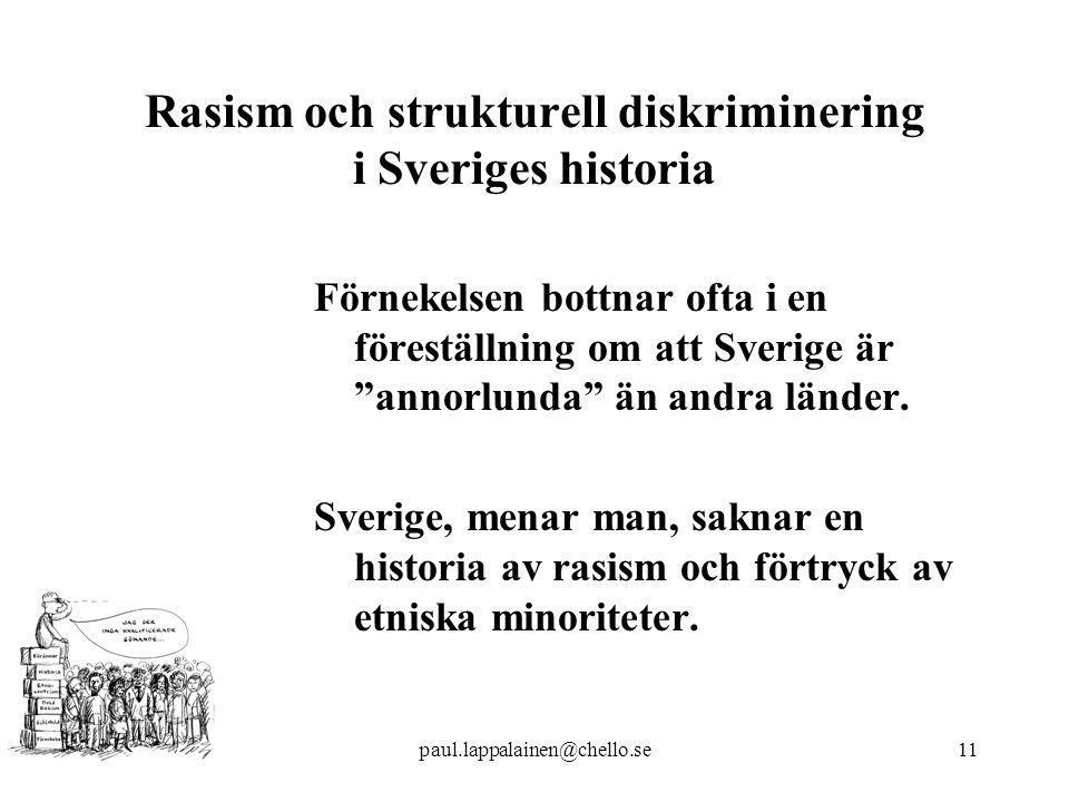 Rasism och strukturell diskriminering i Sveriges historia