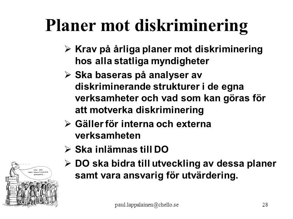 Planer mot diskriminering