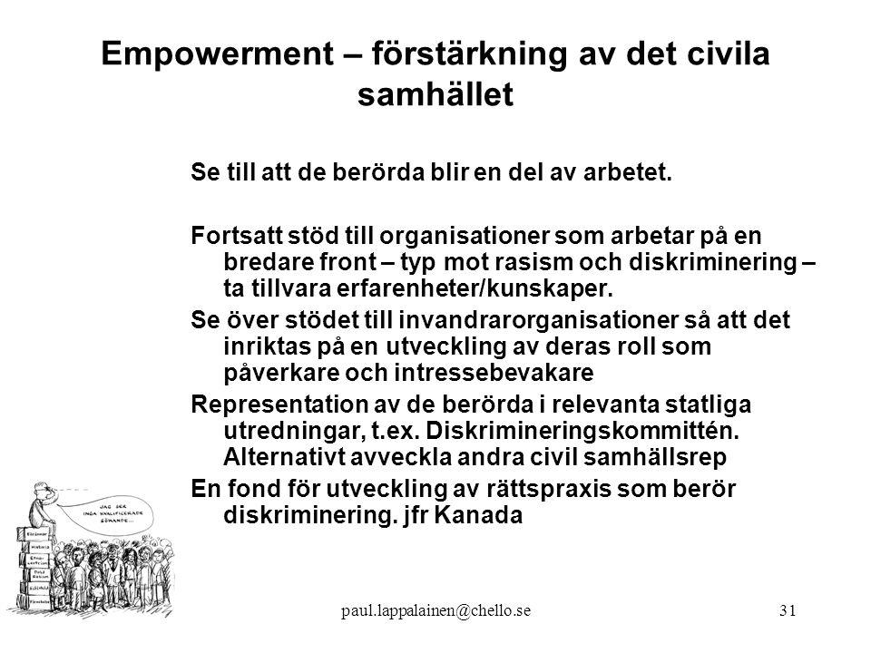 Empowerment – förstärkning av det civila samhället